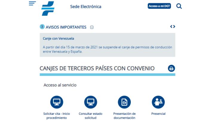 Suspendido canje de licencias de conducir entre España y Venezuela 2021