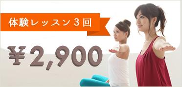 体験レッスン3回¥2900