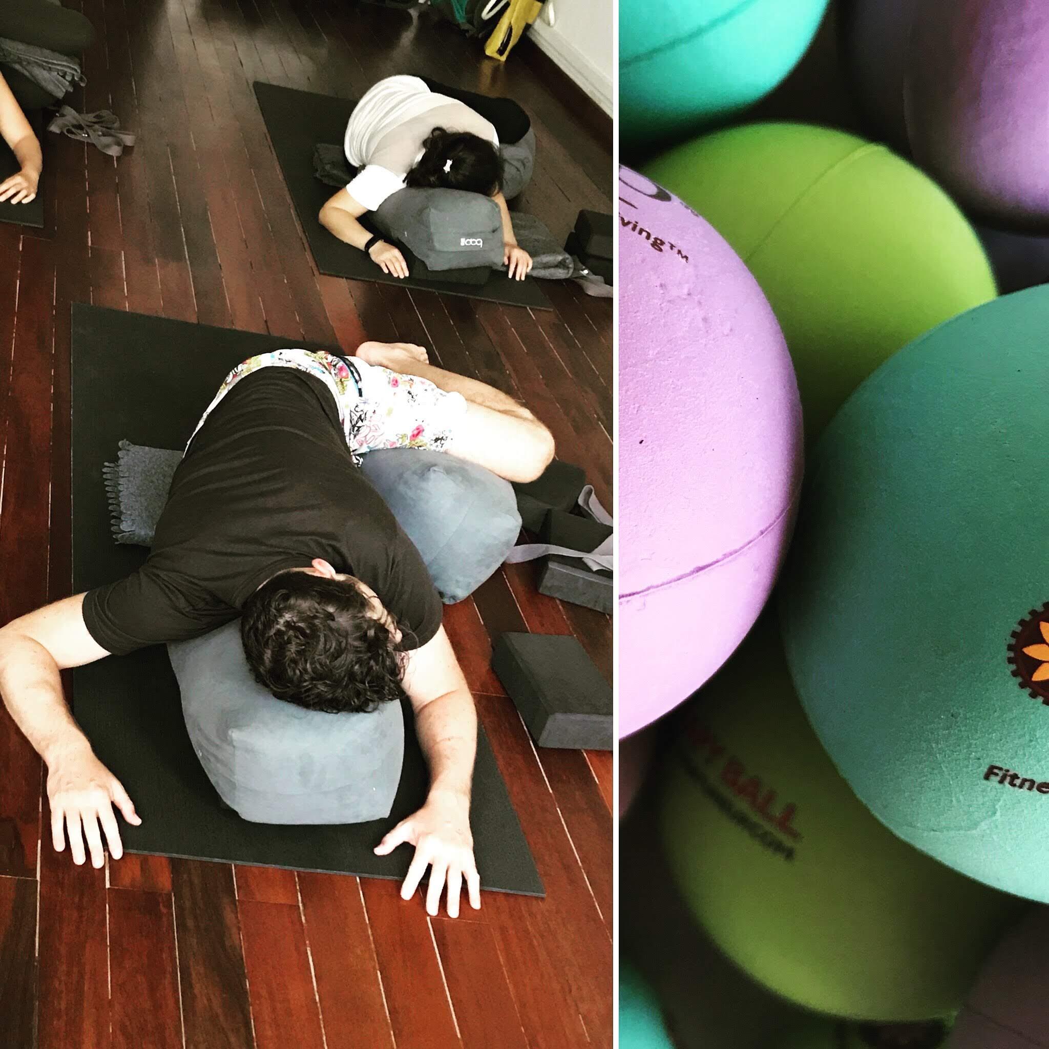 Ateliers yoga à Genève - Laurence votre professeur de Yoga lors d'un atelier yoga - consultez aussi nos cours de yoga à Genève