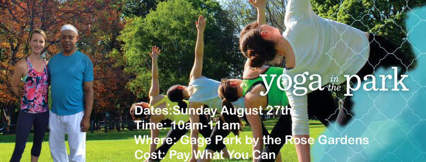 Yoga in Gage Park Hamilton
