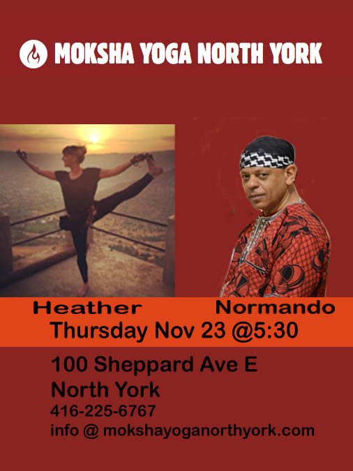 Moksha North York Live music Yoga class Thursday Nov 23 @5:30