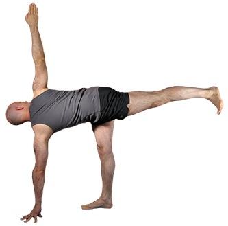 parivrtta ardha chandrasana  iyengar yoga blog