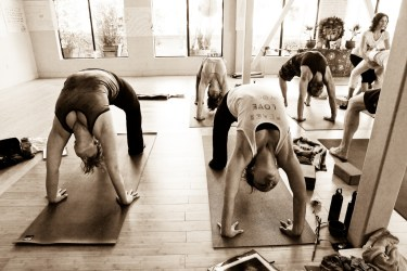 backbends in yoga class