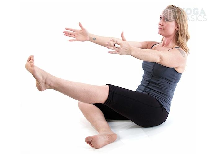 One Leg Boat Pose Yoga Basics
