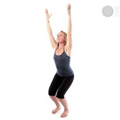 Yoga Chair Pose Compact Desk Basics