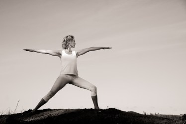 yoga woman warrior 2 pose