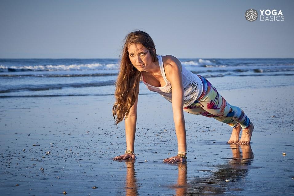 Intense cardio yoga session