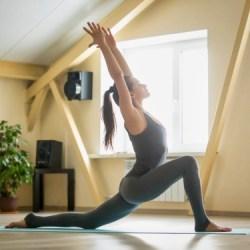 morning yoga pose low lunge