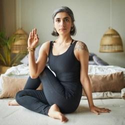 morning yoga pose twist