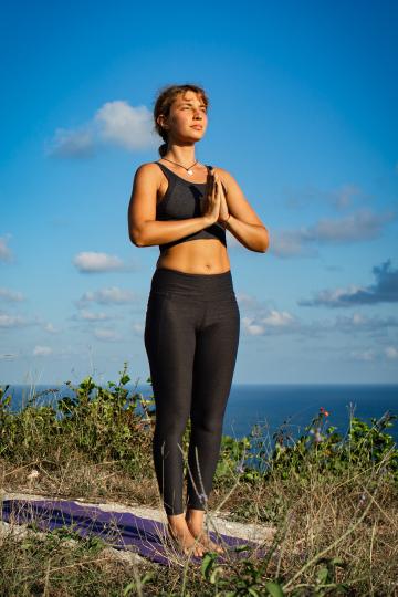 peaceful yoga pose