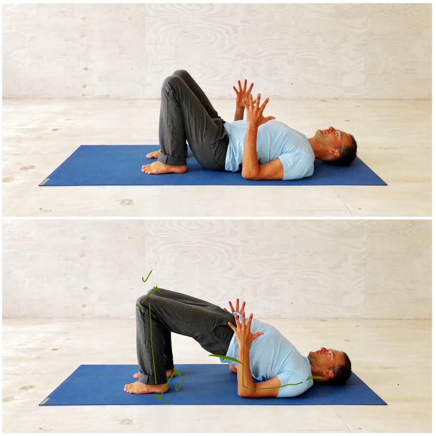 Yoga Stress - Yoga Exercise - Bridge Posture