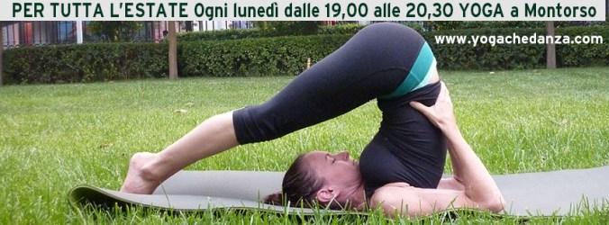 Si fa Yoga tutta l'estate a Montorso