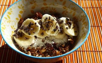 Activated Buckwheat Granola with Figs and Dates