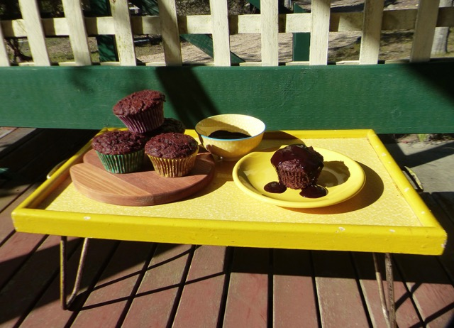 Autumn: Beetroot and Cacao Muffins