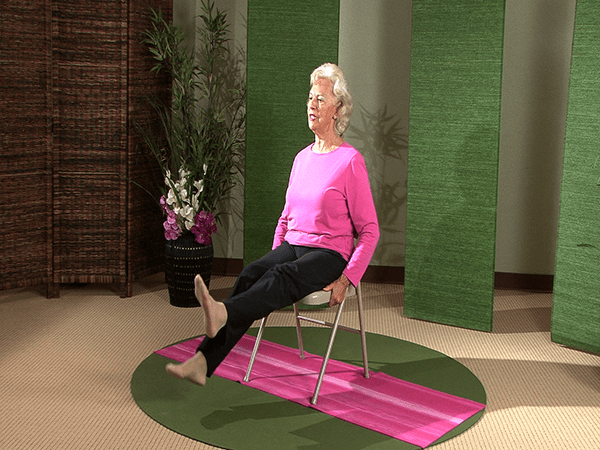 better posture chair pink office gentle yoga – seated series dvd yogajp