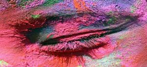 Eye Smeared in the Colors Holi Chandigarh Yoganomics