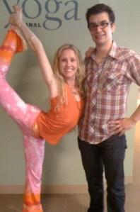 KK Ledford Teaching at Yoga Journal magazine with Brian Castellani