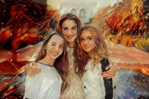 Queen Rania Helps Children of Domestic Violence Do Yoga