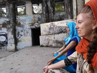 Yoga Teacher Tamara Lee Standard in India