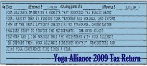 2009 Yoga Alliance Tax Return no4