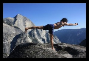 Karl Erb – Yoga Pose on a rock