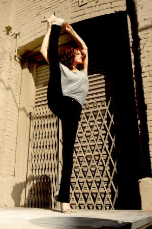 splits on ledge Diane Hudock Yoga Teacher