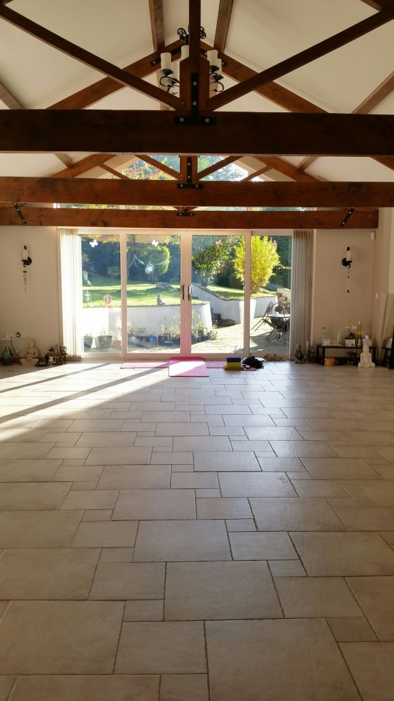 The Yoga Studio with underfloor heating in the Norfolk countryside