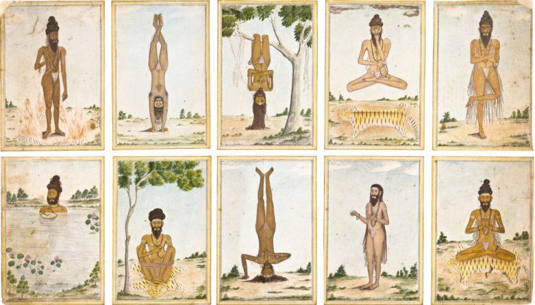 Shaiva ascetics performing tapas via British Museum Source: British Museum.