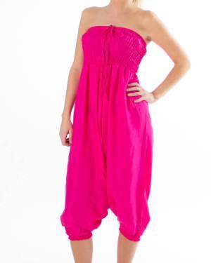 Rosa ensfarget haremsbukse