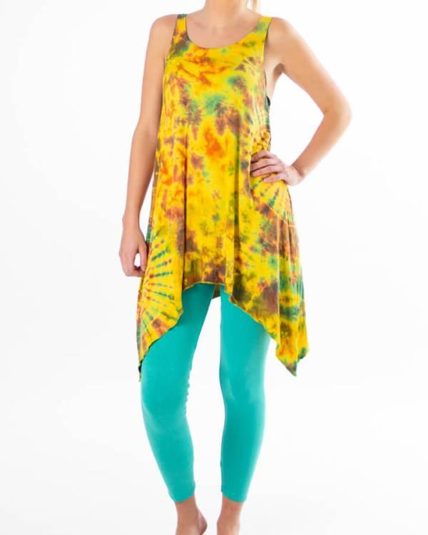Batikk yogasett - gul og turkis