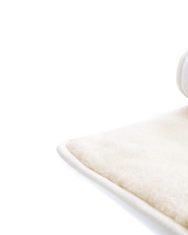 Yogamatte i ull 70×200 detalj