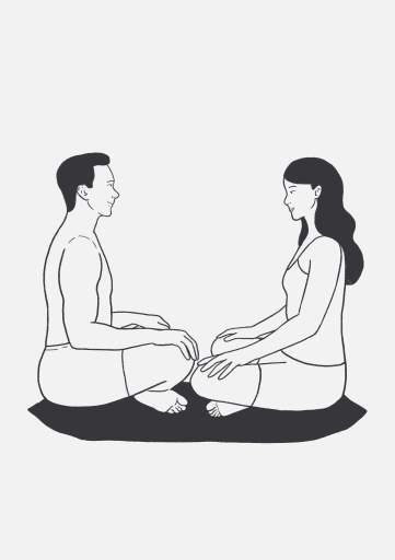 Легкая поза - это базовое положение сидя в медитации.