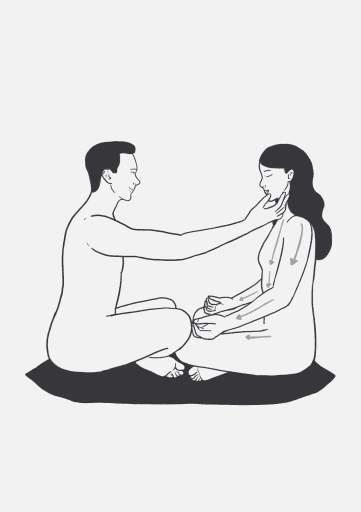 Предоставление и получение позы для практики тантра йоги.