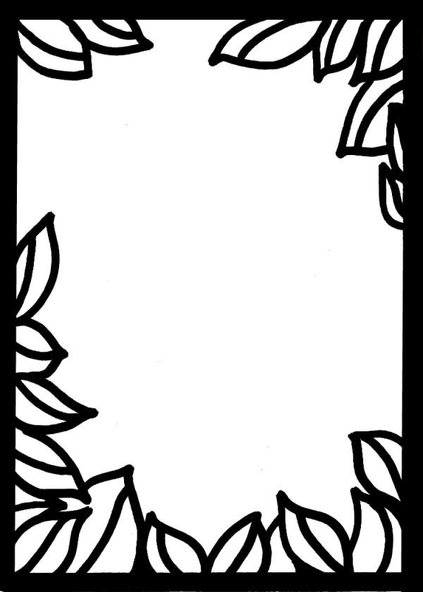 Leaf border template