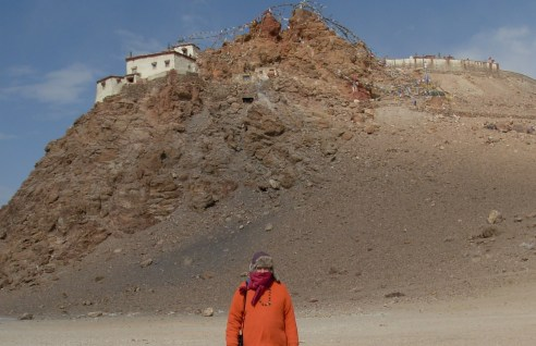 Swami Ayyappa at Monistery by Lake Manasarovar 2012 near Mt. Kailash