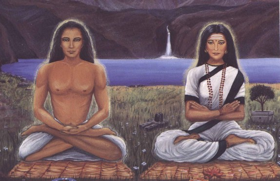 Babaji and Mataji, adepts in Tantra Yoga