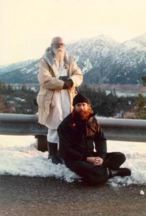 Yogi Ramaiah and Swami Ayyappa Giri practices Yoga on Mt Shasta