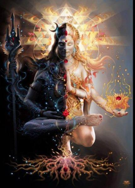 Shiva & Shakti unite above the Ajna Chakra, where oneness remains.