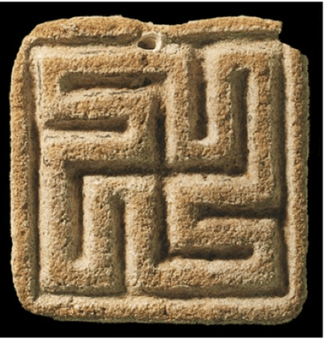 Yantra Yoga Swastika of the ancient Indus valley civilization and contemporary of Sumeria.