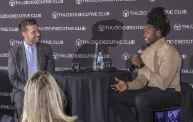 Melvin Gordon and Yogi Roth talk about his journey at a Thuzio event in Hollywood, CA
