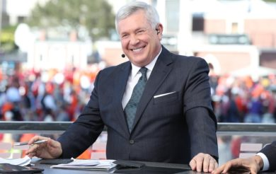 Tampa, FL - January 9, 2017 - Raymond James Stadium: Mack Brown on the set of College GameDay Built by the Home Depot during the 2017 CFP National Championship Game Presented by AT&T (Photo by Allen Kee / ESPN Images)