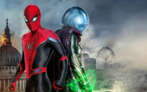 Spider-Man and Mysterio movie promo image
