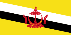 The National Flag Of Brunei Darussalam
