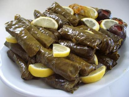 "Image result for ""Dolma"" Turan style stuffed grape leaves"