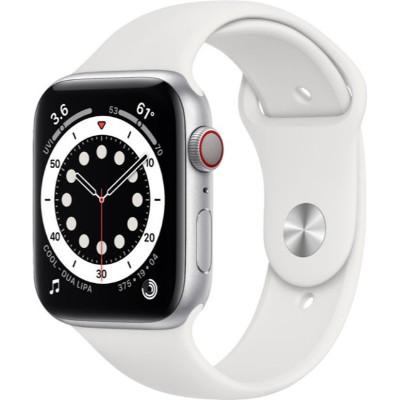 Apple Watch Series 6 44mm GPS + 流動網絡 銀色鋁金屬錶殼配上白色運動錶帶 MG2C3ZP/A 香港行貨 - 智能手錶 - 穿戴式裝置 ...