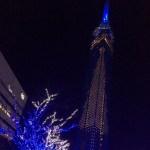 RKB放送会館寄りから福岡タワーを臨む