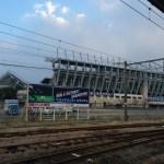 鳥栖駅からベストアメニティスタジアムを臨む