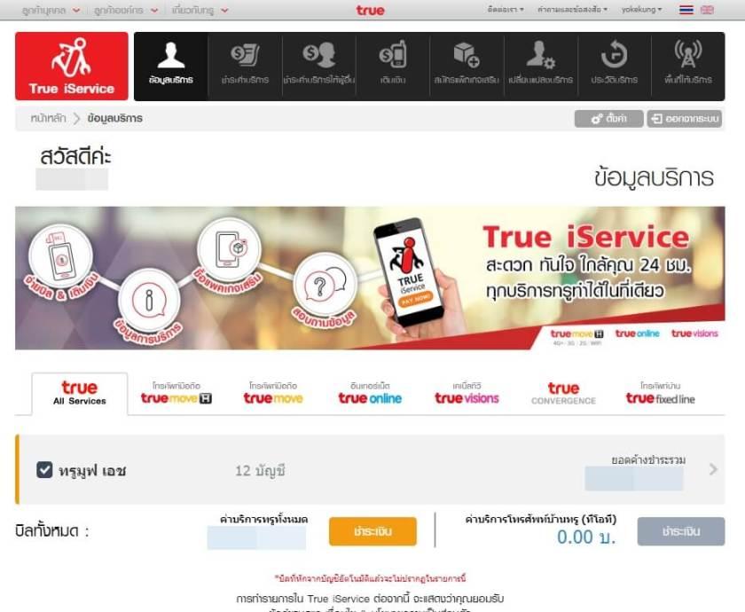 บริการ e-service True