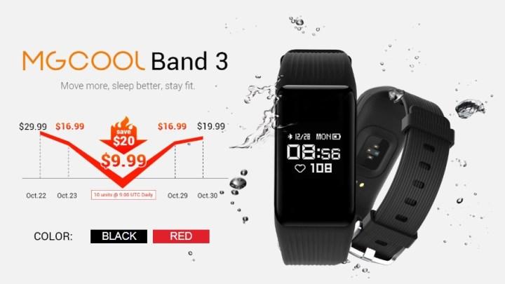 ให้ไวเลย! ราคาพิเศษ [จำกัดระยะเวลา] นาฬิกาออกกําลังกาย Smart Watch MGCOOL Band 3 ที่ Gearbest