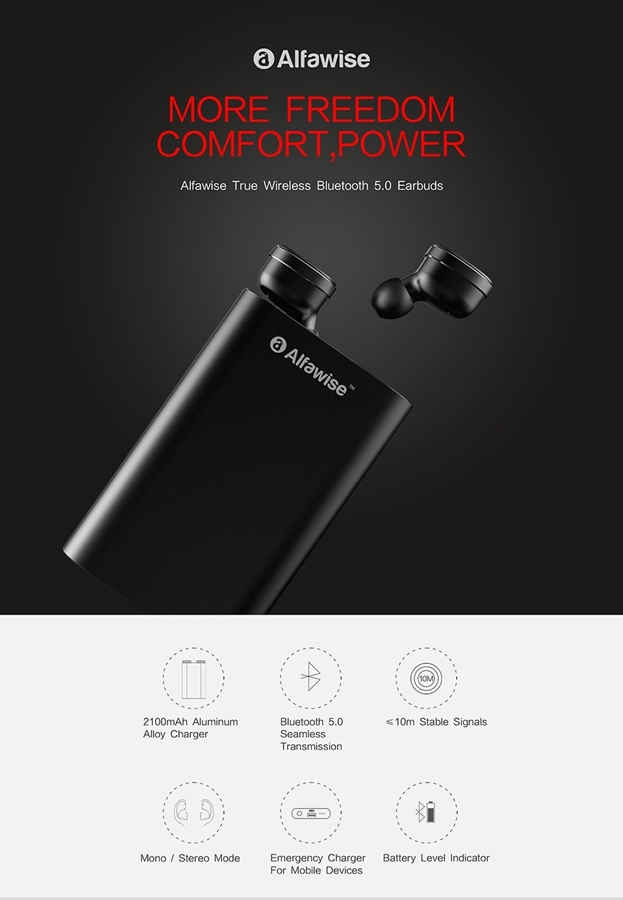 Alfawise Mini True Wireless Bluetooth Earphones